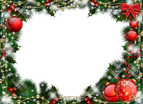 imagenes navideñas 2018 png green transparent christmas photo frame with red ornaments