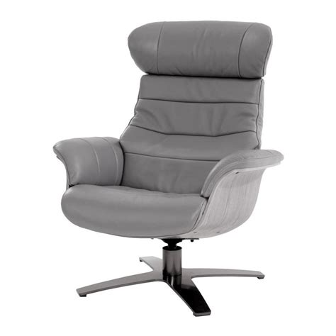 enzo leather recliner chair enzo gray leather swivel chair el dorado furniture
