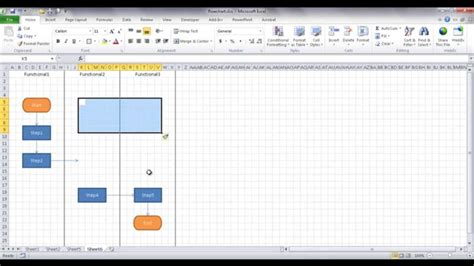 how to create flowchart in excel create a flowchart in excel