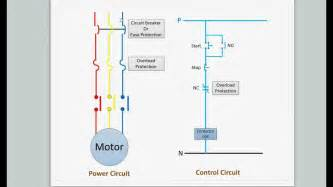 direct online motor starter wiring diagram of a direct