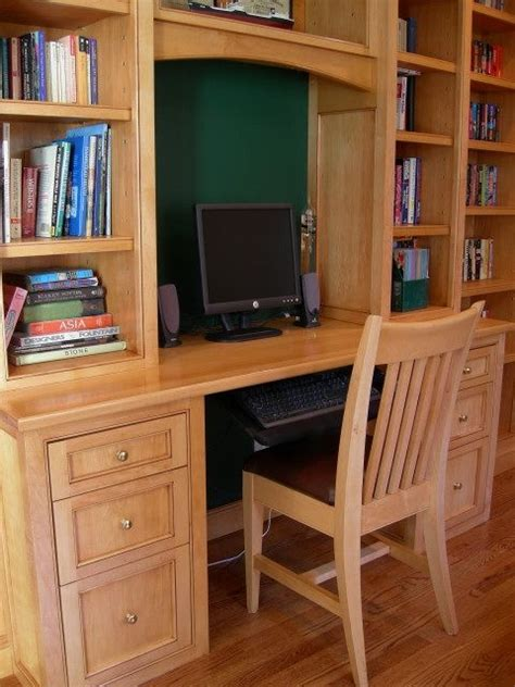 made built in desk matching custom chair by knecht