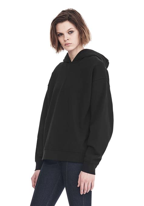 Hoodie Exclusive Hitam 1 lyst wang exclusive oversized hoodie with strict patch in black
