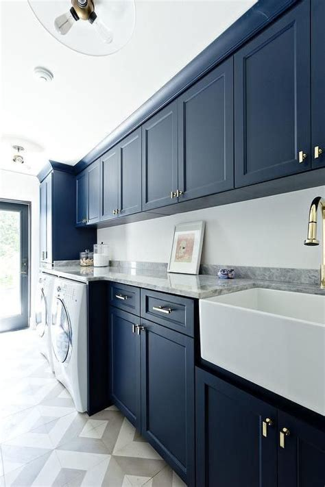 Blue Cabinets Yay Or Nay Laundry Rooms Laundry Room Navy Laundry