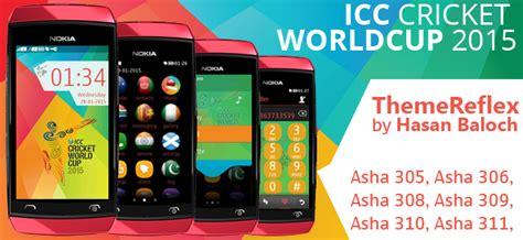 themereflex nokia asha 200 icc cricket world cup 2015 themes themereflex