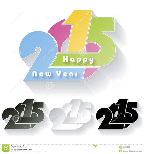 new year card design 2015 happy new year 2015 creative greeting card stock