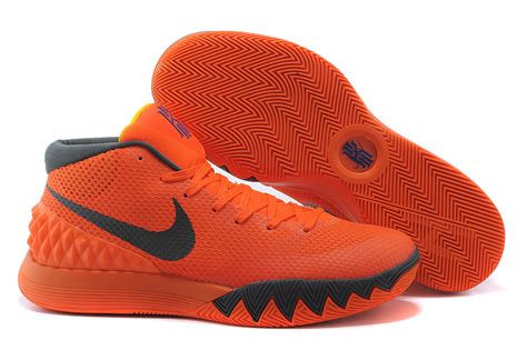orange basketball shoes for nike kyrie irving 1 orange grey mens basketball shoes for sale