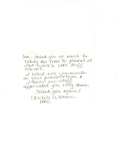 thank you letter after annual meeting thank you note for meeting