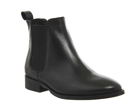 Boots Black Leather office bramble chelsea boots black leather ankle boots