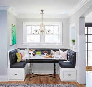 grey banquette gray tufted dining banquette transitional dining
