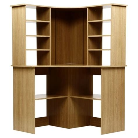 Fraser Corner Desk Buy Fraser Corner Desk With Hutch Oak From Our Office Desks Tables Range Tesco