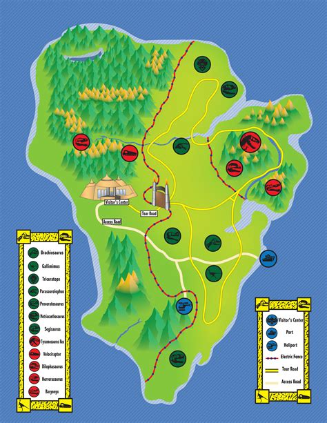 jurassic park map jurassic park map by theein on deviantart