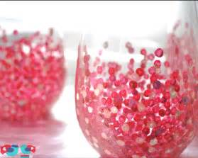 Homemade Serenity Make It how to decorate wine glasses with hand painted confetti
