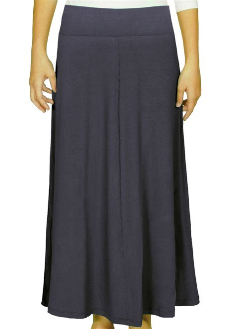 navy maxi skirt with flowing a line modli