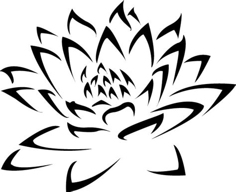tattoo stencil printer ink awesome black ink tribal lotus flower tattoo stencil