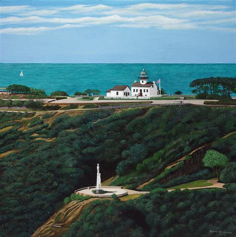 point loma lights point loma light house and cabrillo monument painting