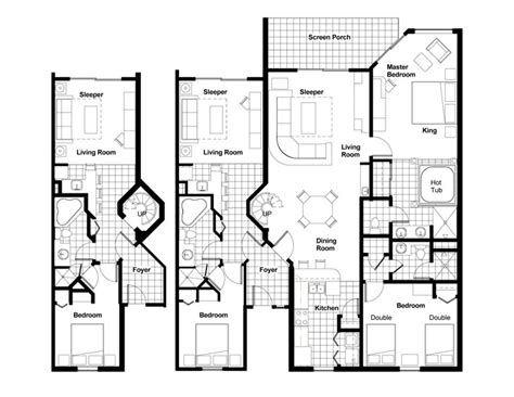 westgate town center villas floorplans and pictures