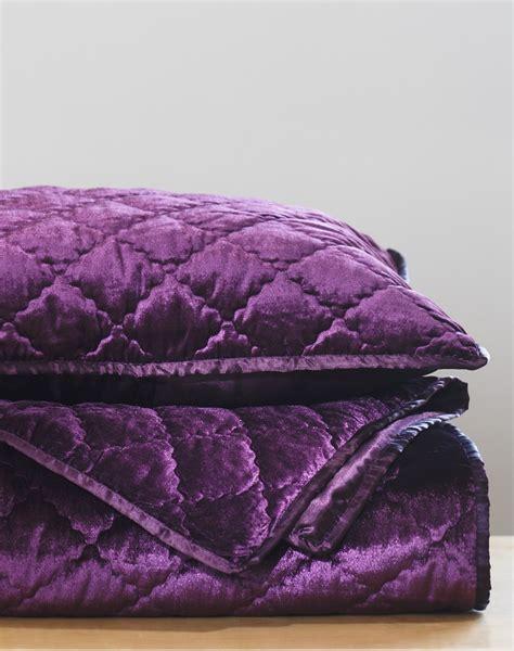Plum Coverlet velvet coverlet in plum s linens