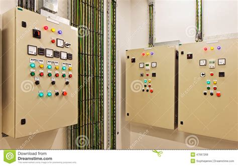 lighting and electrical supply air control station royalty free stock photo