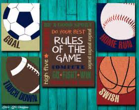 Nursery Sports Decor Sports Decor Sports Nursery Boy Room Decor By Littlelifedesigns