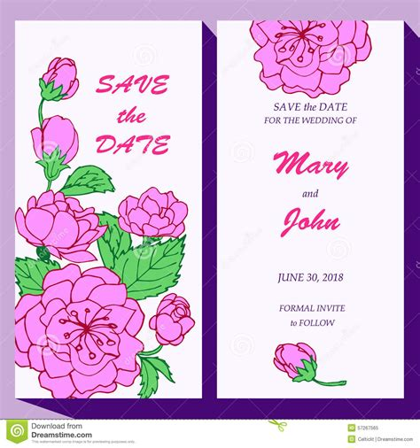 vector card template for save the date baby vector