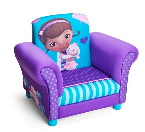 doc mcstuffins armchair delta children doc mcstuffins upholstered chair