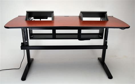 studio desk with rack mount ergo transform console desk height adjustable with rack