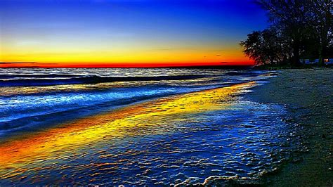 Wallpapers Beach Colorful | colorful beach sunsets wallpaper download free colorful