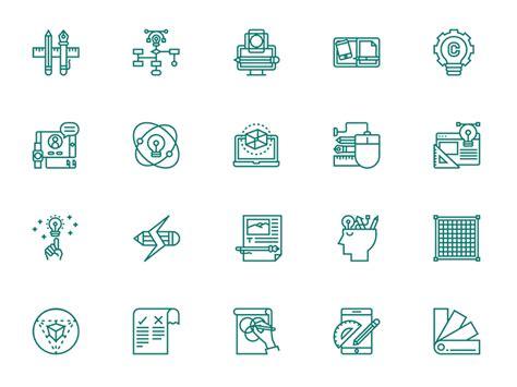design thinking app design thinking icon set sketch freebie download free