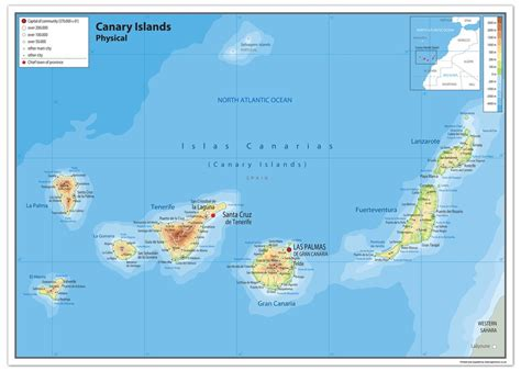 the islands map canary islands map my
