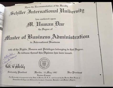 Schiller International Mba by Dar Dismisses Report On Dubious Degree But Confirms