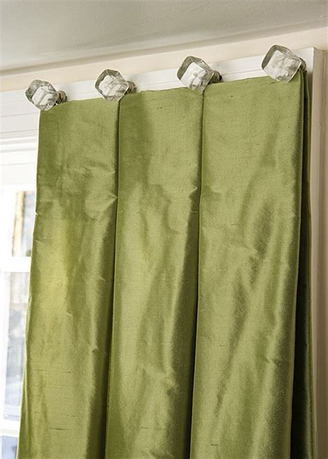 drapery knobs updated elegance reverse box pleat fixed dress curtains