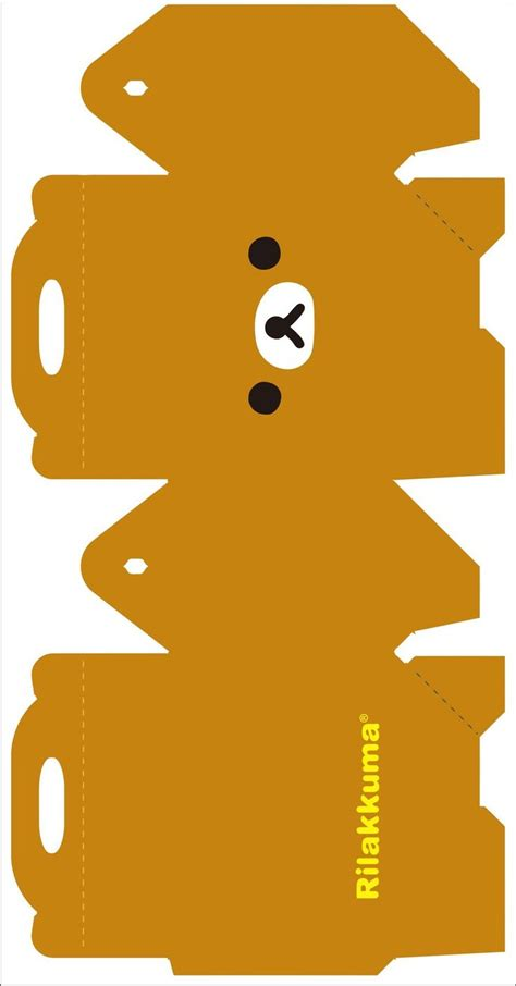 kawaii box template printable diy and crafts pinterest rilakkuma box 1 by kreystalx deviantart com on deviantart