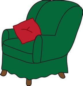 Clipart Armchair by Arm Chair Clipart Image Clip Illustration Of A Green Arm Chair With A Throw Pillow