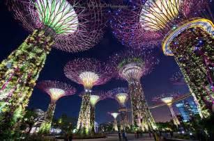 solar lights singapore surreal photos of singapore s solar powered supertrees