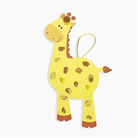 giraffe crafts for thumbprint giraffe craft kit trading discontinued