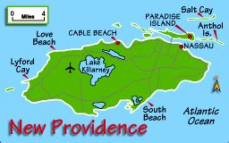 map of new providence new province bahamas map and information page