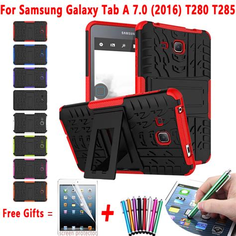 Samsung Tab A 2016 7 T280 T285 Rugged Armor Casing Soft Tpu cheap tablet for samsung galaxy tab a 7 0 t280 t285 hybrid armor kickstand