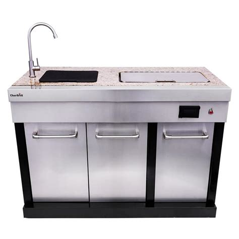 outdoor modular kitchen and organization shop char broil modular outdoor kitchen modular drop in bar center at lowes