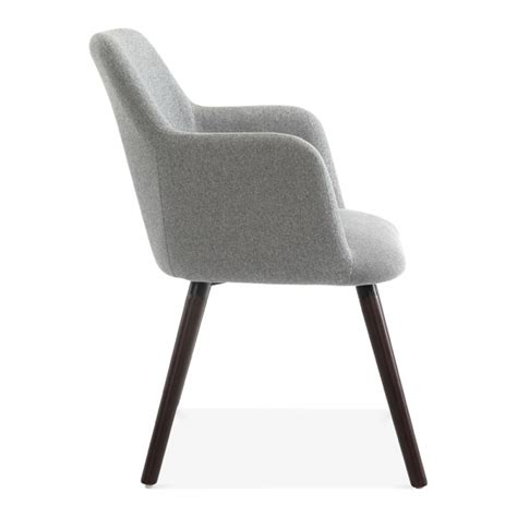 Small Modern Armchair by Grey Wool Upholstered Hanover Small Armchair Modern