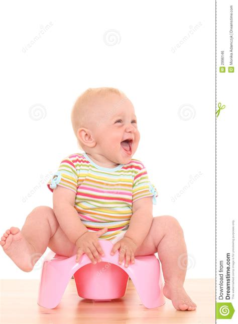 Baby Pooty baby on potty royalty free stock image image 2996146