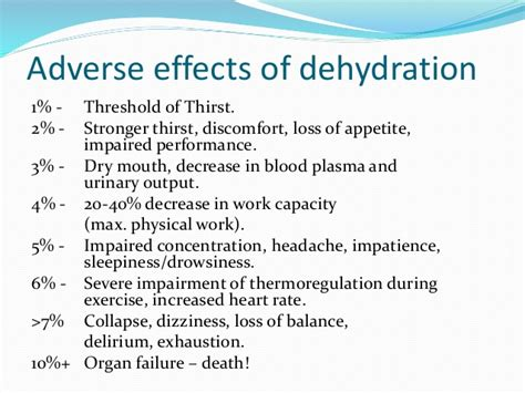 dehydration effects adverse effects of dehydration trimore fitness