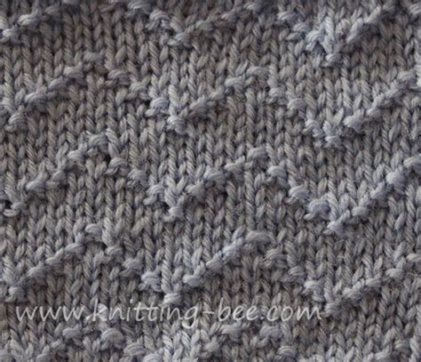 knit chevron pattern chevron zig zag lines knitting stitch knitting bee