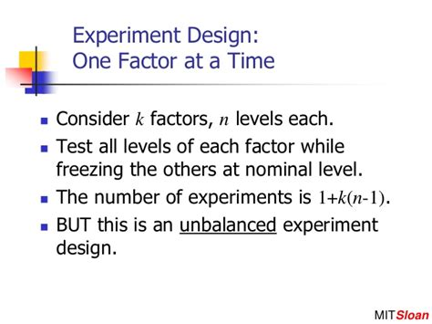 design of experiment single factor robust design