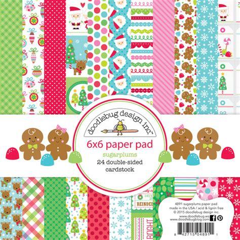 doodlebug design doodlebug design sugarplums 6 x 6 paper pad