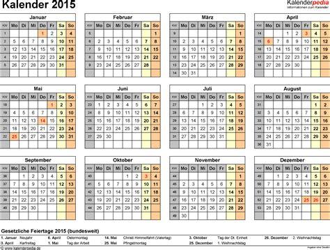 Jahreskalender Mit Kw Kalender 2015 Zum Ausdrucken Als Pdf 16 Vorlagen Kostenlos