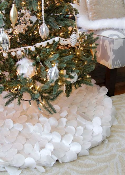 white snow tree skirt holidays pinterest