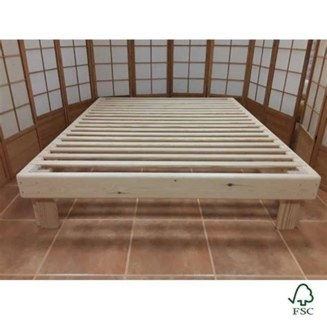 somier con cama abajo cama somier madera fustaforma sin metales