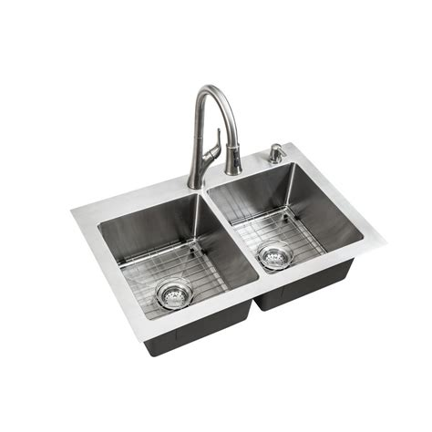 Dual Mount Sink by Glacier Bay All In One Dual Mount Stainless Steel 33 In 2