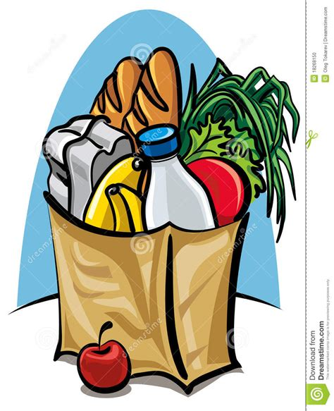 grocery bag clipart bag of food clipart clipart suggest