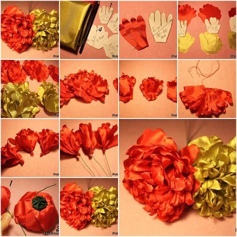 How To Make Handmade Fabric Flowers - how to make modular fabric peony flower step by step diy